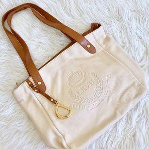 Lauren Ralph Lauren Cream Leather Shoulder Bag
